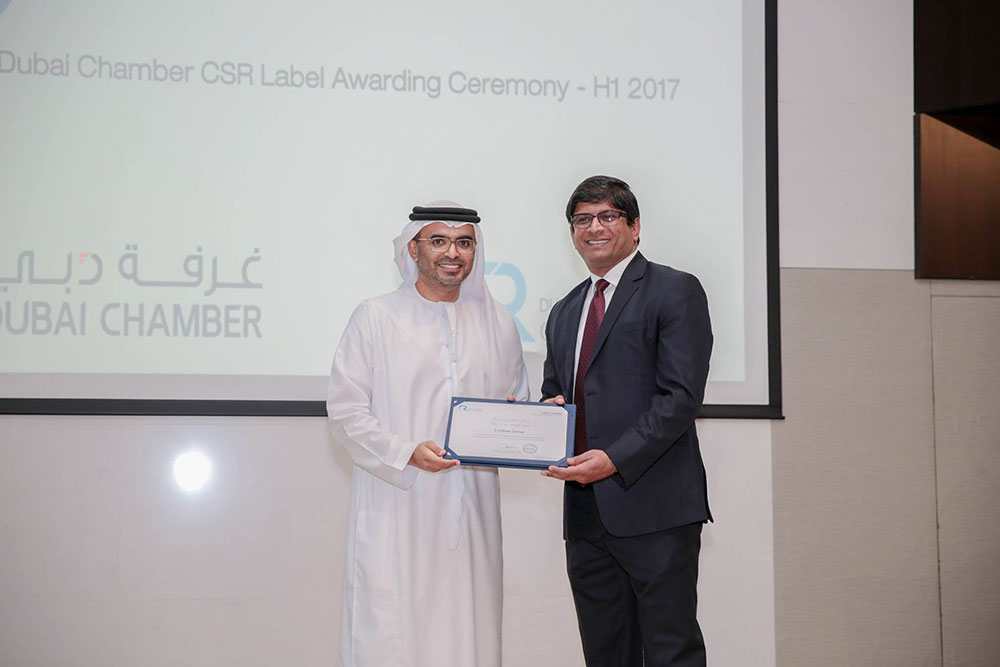 Centena Group wins Dubai Chamber�s CSR Label Award for the 2nd consecutive year
