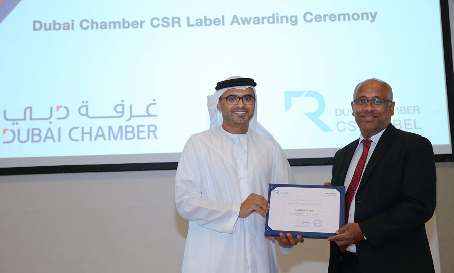 Centena Group received Dubai Chamber CSR Label for the third consecutive year.